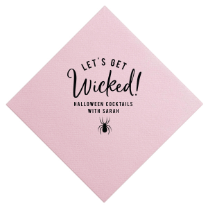 Our beautiful custom Watercolor Hibiscus Patterned Cocktail Napkin with Matte Black Foil has a Spider graphic and is good for use in Halloween themed parties and can be personalized to match your party's exact theme and tempo.