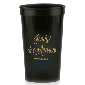 Our custom Gold 16 oz Stadium Cup with Matte White Ink Cup Ink Colors are a must-have for your next event—whatever the celebration!