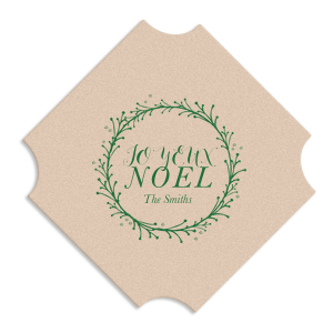The ever-popular Kraft with Blush back Nouveau Coaster with Satin Leaf Foil Color has a Twig Wreath graphic and is good for use in Frames themed parties and couldn't be more perfect. It's time to show off your impeccable taste.