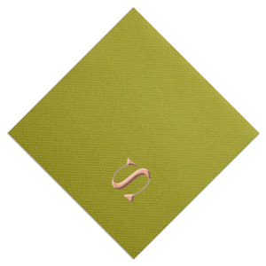 Our beautiful custom Moss Green Foil Embossed Cocktail Napkin with Shiny Rose Gold Foil are a must-have for your next event—whatever the celebration!