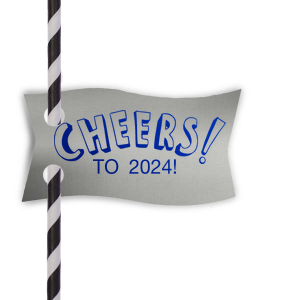 CHEERS Wave Straw Tag