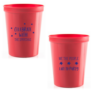 ForYourParty's elegant Orange 16 oz Stadium Mood Cup with Matte Cobalt Ink Colors will impress guests like no other. Make this party unforgettable.