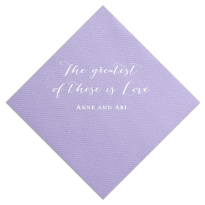 Our custom Amethyst Cocktail Napkin with Matte White Foil couldn't be more perfect. It's time to show off your impeccable taste.
