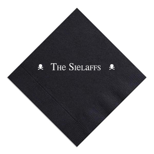 The ever-popular Black Cocktail Napkin with Matte White Foil can't be beat. Showcase your style in every detail of your party's theme!