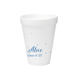 Custom Matte Royal Blue Ink 12 oz Styrofoam Cup with Matte Royal Blue Ink Cup Ink Colors will give your party the personalized touch every host desires.