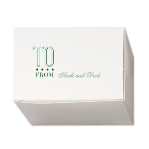 Our beautiful custom Natural White Pillow Box with Shiny Leaf Foil will add that special attention to detail that cannot be overlooked.