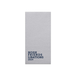 ForYourParty's personalized Stone Gray Cocktail Napkin with Matte Navy Foil can't be beat. Showcase your style in every detail of your party's theme!