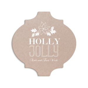 ForYourParty's elegant Kraft with Blush back Ornament Coaster with Shiny Merlot Foil has a Pointsettia graphic and is good for use in Holiday, Christmas, Floral themed parties and can't be beat. Showcase your style in every detail of your party's theme!