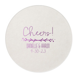 The ever-popular Eggshell Scallop Coaster with Shiny Lavender Foil has a Leaf Vine graphic and is good for use in Frames themed parties and can't be beat. Showcase your style in every detail of your party's theme!