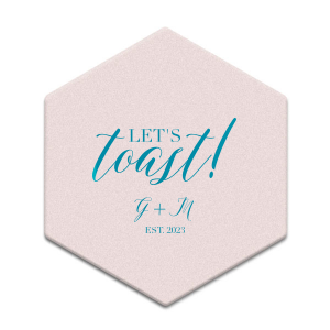 Elegant Let's Toast Coaster