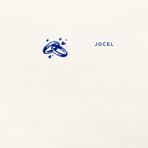 ForYourParty's chic Lettra Pearl White 110lb Invitation Envelope with Shiny Royal Blue Foil has a Wedding Rings graphic and is good for use in Wedding, Anniversary, Hearts themed parties and will add that special attention to detail that cannot be overlooked.