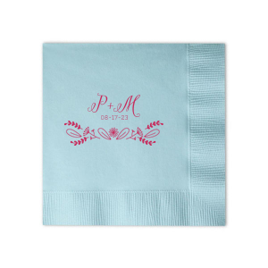 This Powder Blue Linen Like Napkin design features a monogram that pairs our Nordic graphic with your initials and special date. Whether for your engagement party, rehearsal dinner or wedding, personalize this napkin for a memorable touch.