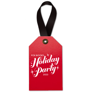 Sparkle Holiday Party Gift Tag