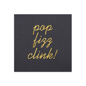 Our custom Black Linen Like Cocktail Napkin with Shiny 18 Kt Gold Foil will give your party the personalized touch every host desires.