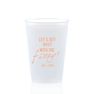 Personalized 10 oz Frost Flex Cup with Matte Light Coral Ink will add that special attention to detail that cannot be overlooked.