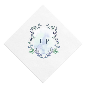 Our personalized White Photo/Full Color Cocktail Napkin with Matte Navy Ink Digital Print Colors will impress guests like no other. Make this party unforgettable.