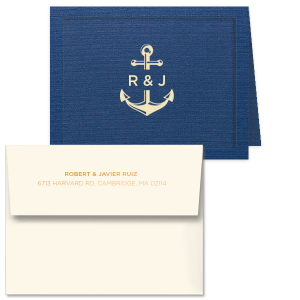 Anchor & Initials Note Card
