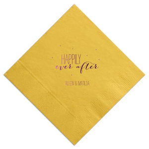 Our custom Sunflower Cocktail Napkin with Shiny Amethyst Foil can't be beat. Showcase your style in every detail of your party's theme!