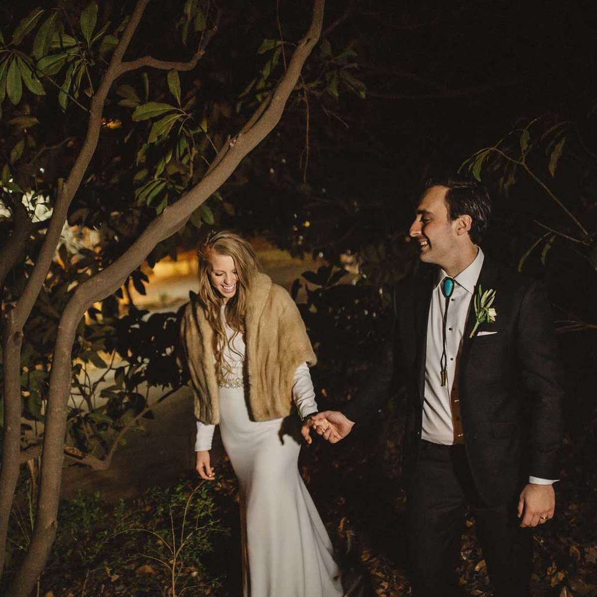 organic and elegant wedding with natural theme in winter
