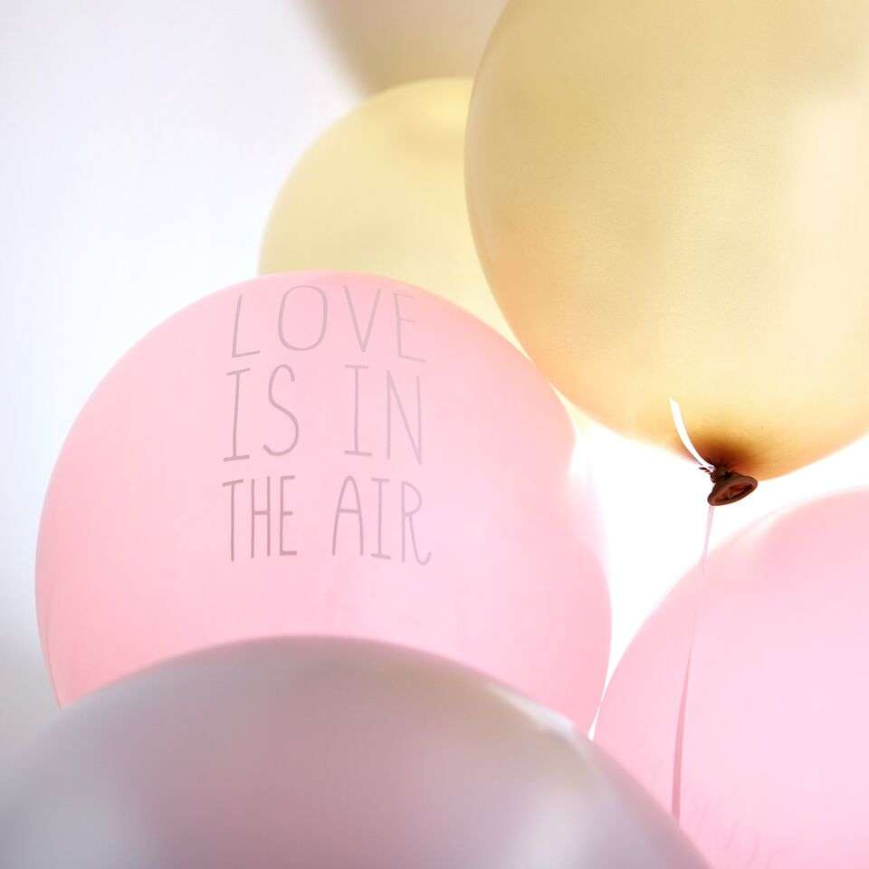 """Love Is In The Air"" balloons from For Your Party"