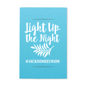 Our custom Poptone Turquoise Small Sparkler Sleeve with Matte White Foil Color has a Leaves graphic and is good for use in Floral themed parties and can't be beat. Showcase your style in every detail of your party's theme!
