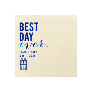 Best Day Ever Grooms Napkin