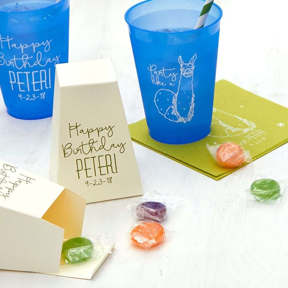 personalized kid birthday party favor boxes