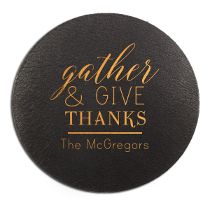 Our personalized Kraft with Blush back Nouveau Coaster with Shiny Merlot Foil are a must-have for your next event—whatever the celebration!