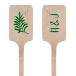 Custom Shiny Kiwi / Lime Rectangle Stir Stick with Shiny Kiwi / Lime Foil Color has a Leaves graphic and is good for use in Floral themed parties and can't be beat. Showcase your style in every detail of your party's theme!