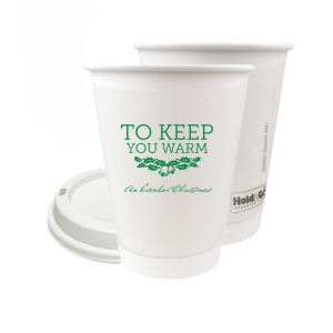 Our custom Matte Leaf Ink 8 oz Paper Coffee Cup with Lid with Matte Leaf Ink Cup Ink Colors has a Holly Bells graphic and is good for use in Holiday, Christmas themed parties and will add that special attention to detail that cannot be overlooked.