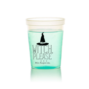 ForYourParty's personalized Black 16 oz Stadium Cup with Silver Ink Cup Ink Colors has a Witch's Hat graphic and is good for use in Halloween themed parties and couldn't be more perfect. It's time to show off your impeccable taste.