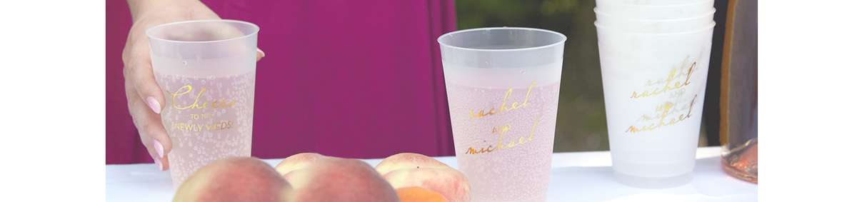 Frost flex plastic cups for your wedding, shower or event!