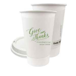 Personalized Matte Moss Green Ink 8 oz Paper Coffee Cup with Lid with Matte Moss Green Ink Cup Ink Colors will look fabulous with your unique touch. Your guests will agree!