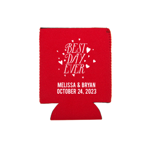 Best Day Ever Wedding Can Cooler