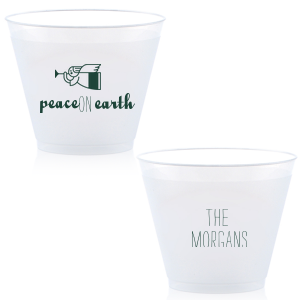 ForYourParty's chic Matte Spruce 16 oz Frost Flex Cup with Matte Spruce Print Color has a Angel 2 graphic and is good for use in Christian Symbols, Christmas themed parties and will look fabulous with your unique touch. Your guests will agree!
