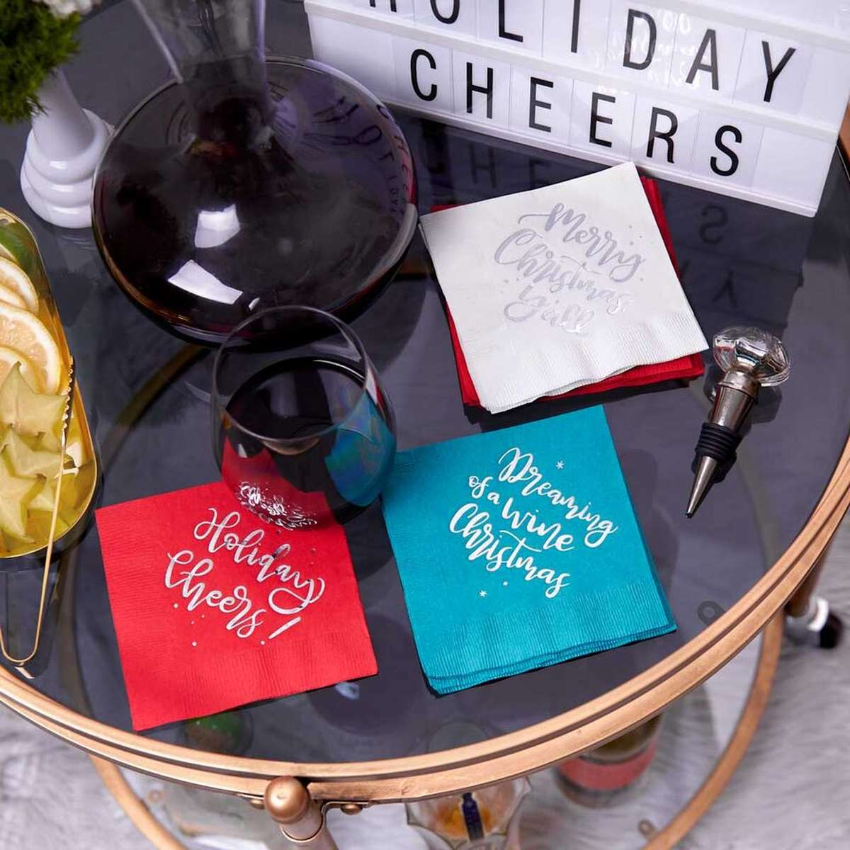 holiday wine set curated gift box