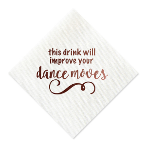 Improve Your Dance Moves Napkin