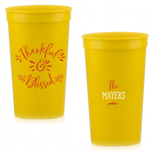 Our beautiful custom Gold 16 oz Stadium Cup with Matte White Ink Cup Ink Colors are a must-have for your next event—whatever the celebration!