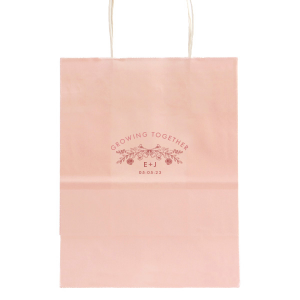 The ever-popular Ivory Party Bag with Shiny Rose Quartz Foil has a Rose Laurel graphic and is good for use in Wedding and Anniversary themed parties and will make your guests swoon. Personalize your party's theme today.