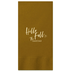 Hello Fall Napkin