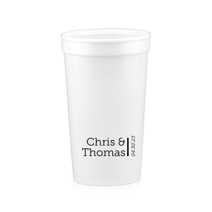 Our custom Powder Blue 16 oz Stadium Cup with Matte Black Ink Cup Ink Colors will add that special attention to detail that cannot be overlooked.