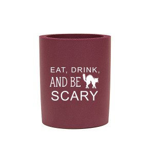 ForYourParty's chic Ivory - Natural Round Can Cooler with Matte Black Ink Cup Ink Colors has a Black Cat graphic and is good for use in Animals, Halloween themed parties and will add that special attention to detail that cannot be overlooked.