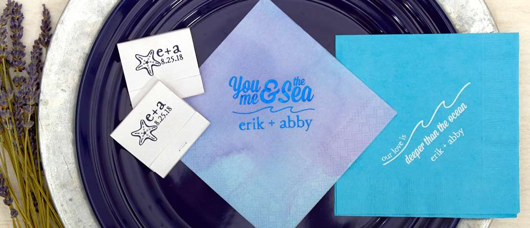 you me and the sea cocktail napkins