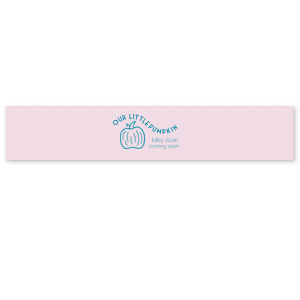 "Personalized Ballet Pink Satin Ribbon 1.5"" with Satin Teal / Peacock Foil has a Pumpkin graphic and is good for use in Thanksgiving, Halloween themed parties and can't be beat. Showcase your style in every detail of your party's theme!"