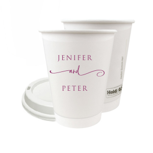 Custom Matte Plum Ink 16 oz Paper Coffee Cup with Lid with Matte Plum Ink Cup Ink Colors will impress guests like no other. Make this party unforgettable.