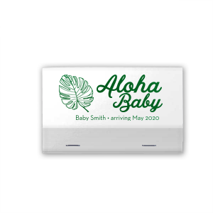 ForYourParty's chic Shiny White 40 Strike Matchbook with Shiny Leaf Foil has a Palm Leaf graphic and is good for use in Organic, Floral, Baby Shower and Trendy themed parties and will give your party the personalized touch every host desires.