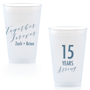 Our custom Matte Stone Blue Ink 16 oz Frost Flex Cup with Matte Stone Blue Ink Cup Ink Colors will give your party the personalized touch every host desires.
