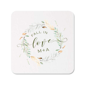 Our personalized White Photo/Full Color Round Coaster with Matte Army Green Ink Digital Print Colors can be customized to complement every last detail of your party.