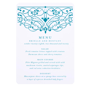 Diamond Flourish Menu