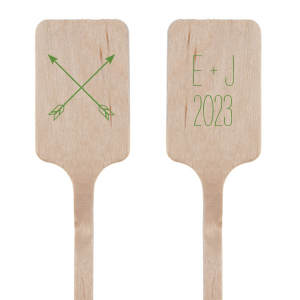 Our beautiful custom Matte Moss Green Rectangle Stir Stick with Matte Moss Green Foil Color has a Cross Arrows 2 graphic and is good for use in Accents, Frames themed parties and will add that special attention to detail that cannot be overlooked.